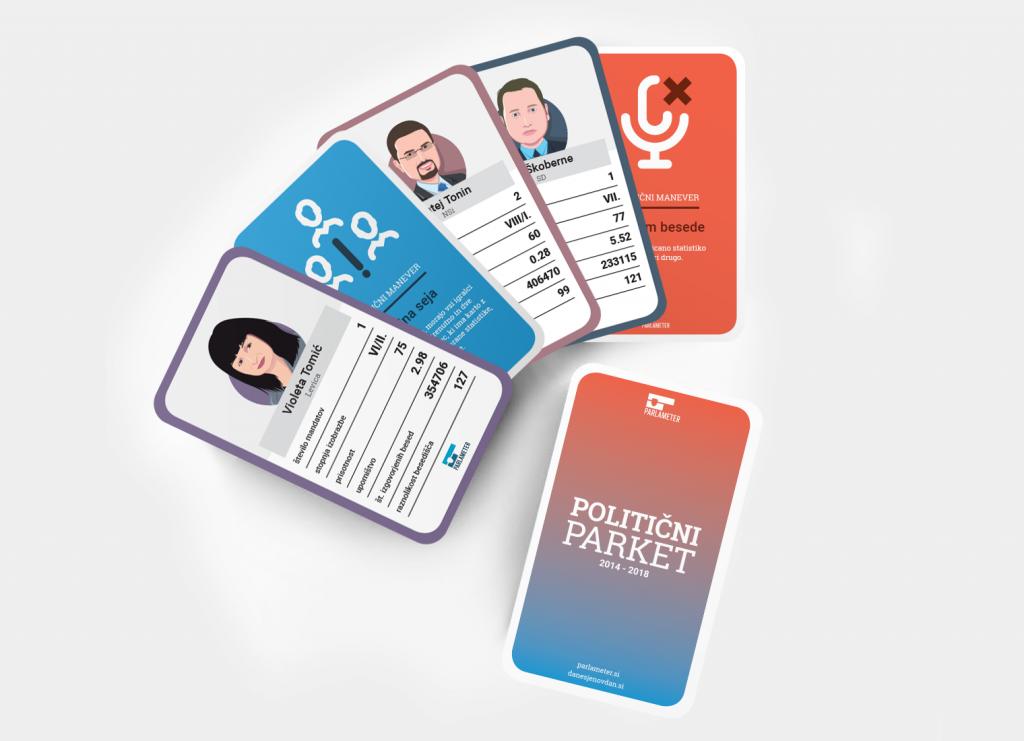 Politični parket: namizna igra s kartami