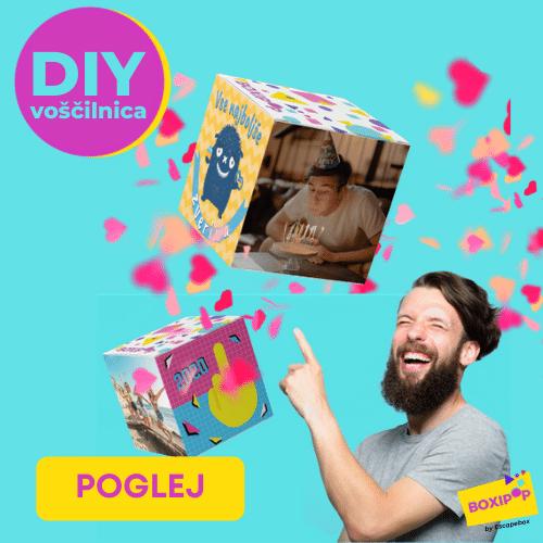 boxipop zabavna DIY voščilnica